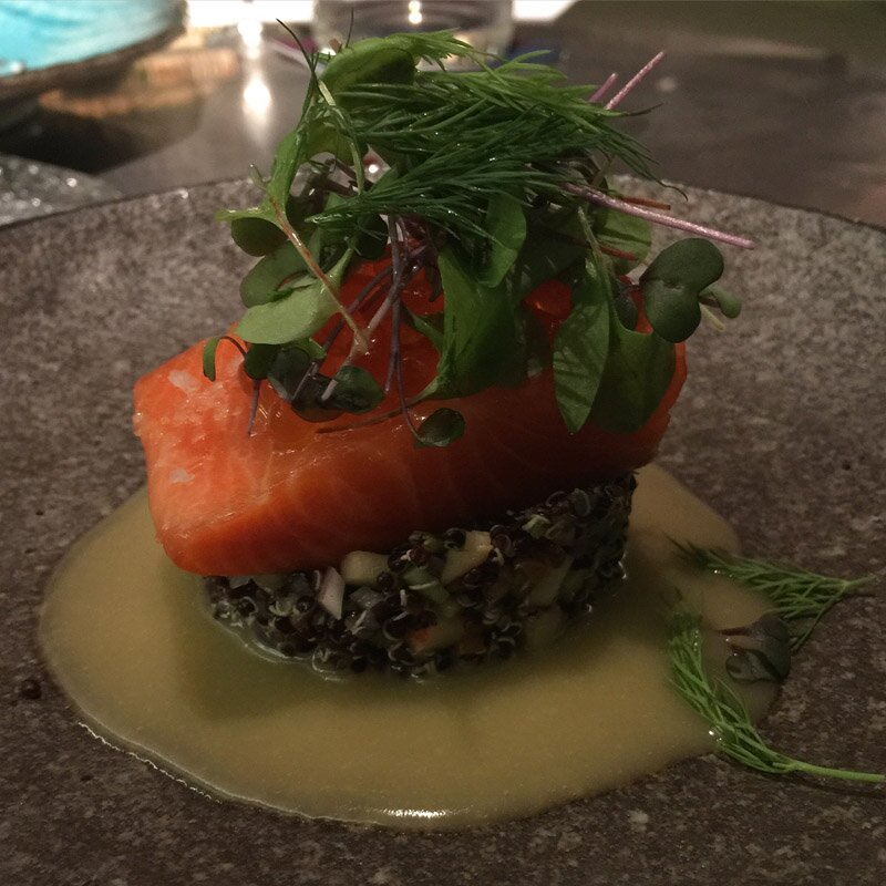 The Glass House Hobart Confit Ocean Trout